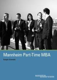 Mannheim Part-Time MBA - Mannheim MBA
