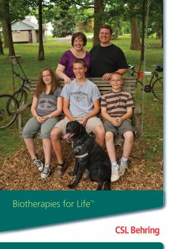 Biotherapies for Life - CSL Behring