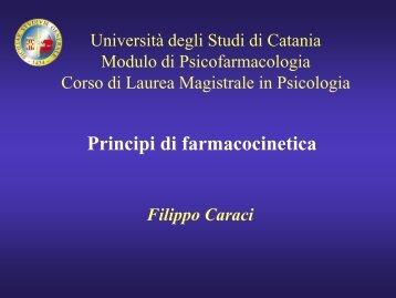 Principi di farmacocinetica - Università degli Studi di Catania