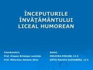 Inceputurile învățământului liceal în Gura Humorului - Colegiul ...
