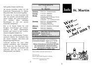Infoblatt - des Pfarrverbandes Bilk-Friedrichstadt