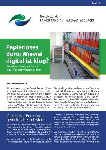Papierloses Büro: Wieviel digital ist klug? - Privatpraxis Dr. Siegfried ...