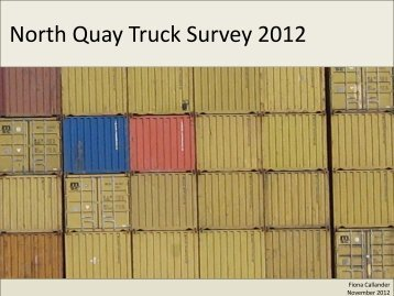 North Quay Truck Survey 2012 - Fremantle Ports