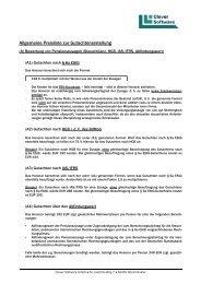 Allgemeine Preisliste zur Gutachtenerstellung - Clever Software GmbH
