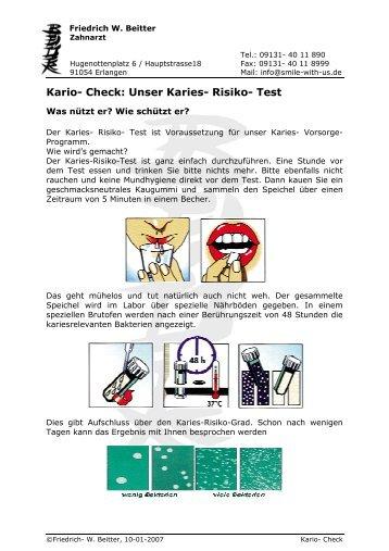 Kario- Check: Unser Karies- Risiko- Test - Smile-with-us.de