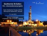 15.06.2013 - Geothermie St.Gallen: Ein «Generationenprojekt» (2 MB)