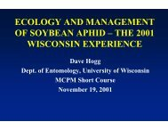 ECOLOGY AND MANAGEMENT OF SOYBEAN APHID – THE 2001 ...