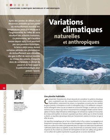 variations climatiques - BRGM