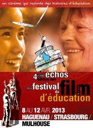 plaquette FFE2013 Alsace - Festival du film d´éducation