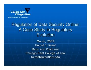 Regulation of Data Security Online: A Case Study in Regulatory ...