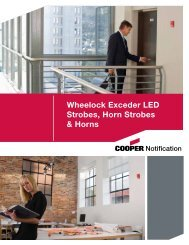 Exceder LED Overview - Wheelock Products