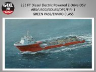 295 FT Diesel Electric Powered Z-Drive OSV ABS/USCG/SOLAS ...