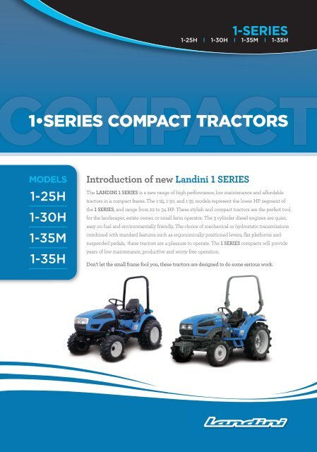 1•SERIES COMPACT TRACTORS - NS Local