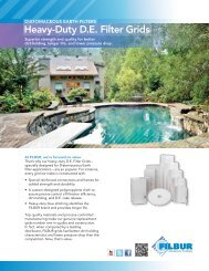 Heavy-Duty D.E. Filter Grids - Filbur Manufacturing