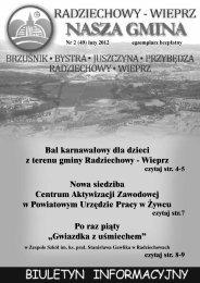 Bal karnawałowy dla dzieci z terenu gminy Radziechowy - Wieprz ...