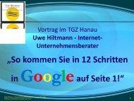 In 12 Schritten in Google auf Seite 1 - Sternstunde für Unternehmer
