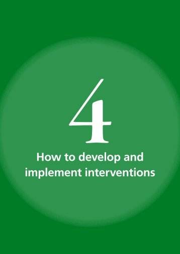 How to develop and implement interventions - Global Road Safety ...