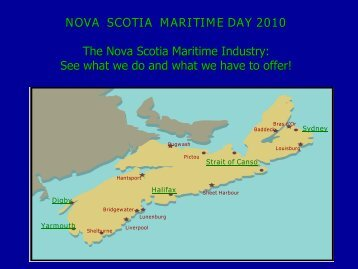The Nova Scotia Maritime Industry - The Shipping Federation of ...