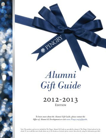 Alumni Gift Guide - Pingry School