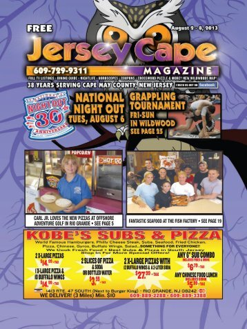 2 X-Large Pizzas With - Jersey Cape Magazine