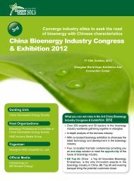 China Bioenergy Industry Congress & Exhibition 2012 - inbiom.dk