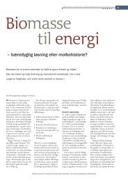 – bæredygtig løsning eller molbohistorie? - Aktuel Naturvidenskab