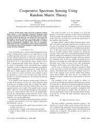 Cooperative Spectrum Sensing Using Random Matrix Theory - HAL