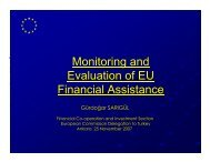 Monitoring and Evaluation of EU Financial Assistance