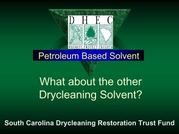 Petroleum Based Solvent - State Coalition for Remediation of ...