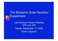 The Borexino Solar Neutrino Experiment