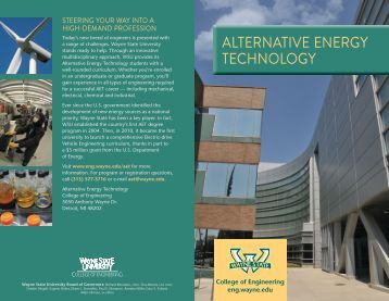 alternative energy technology - College of Engineering - Wayne ...