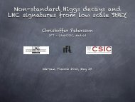 Non-standard Higgs decays and LHC signatures from ... - Planck 2012