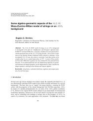Some algebro-geometric aspects of the SL(2,R ... - TCPA Foundation