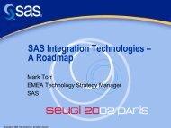 SAS Integration Technologies – A Roadmap - sasCommunity.org