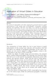 Application of Virtual Globes in Education - ResearchGate