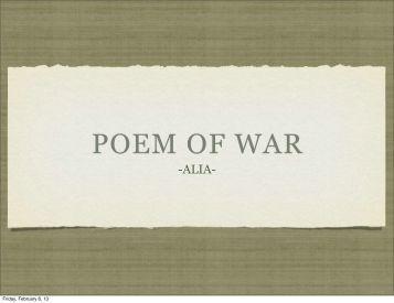 Poetry of War