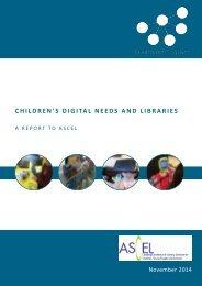 Children's Digital Needs - ASCEL 17 11 2014 FINAL