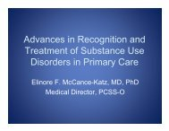 Advances in Recognition and Treatment of Substance Use - PCSS-O