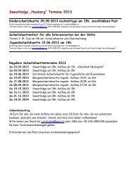 "Sweatlodge ""Heuberg"" Termine 2013"