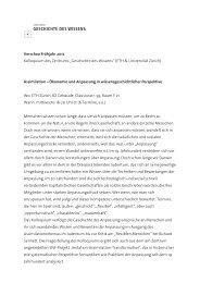 ZGW Kolloquium FS12 Vorschau - Zentrum Geschichte des Wissens