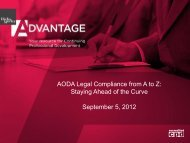 AODA Legal Compliance from A to Z: Staying Ahead ... - Hicks Morley