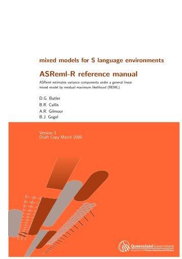 Asreml-r | matrix (mathematics) | errors and residuals.