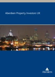 Aberdeen Property Investors UK - Aberdeen Asset Management
