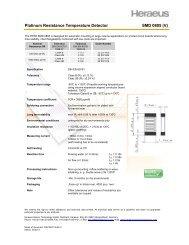Platinum Resistance Temperature Detector SMD 0805 (V) - Heraeus ...