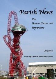 Parish News - Cotton Parish