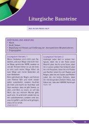 Liturgische Bausteine - ehrenamt - evangelisch - engagiert