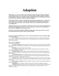 Adoption Information Forms - Cumberland County