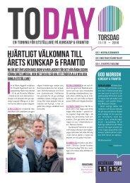 Hjärtligt välkomna till årets Kunskap & Framtid - Svenska Mässan