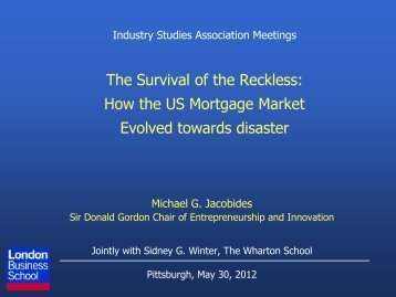 Presentation - Center for Industry Studies, University of Pittsburgh