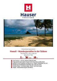 Hawaii - Wanderparadies in der Südsee -  Hauser exkursionen